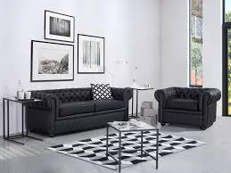 canapé 2 et 3 places cuir canapé 2 3 places canapé en cuir noir sofa chesterfield