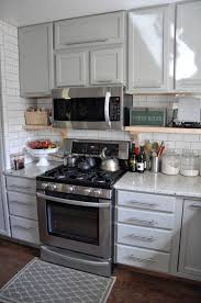 country kitchen with bar pull u0026 subway tile in albuquerque nm