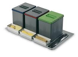 poubelle de cuisine tri s駘ectif 3 bacs poubelle de tri sélectif pour votre cuisine 3 bacs porte seaux