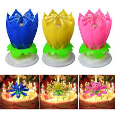 spinning birthday candle amazing romatic musical spinning lotus flower happy birthday