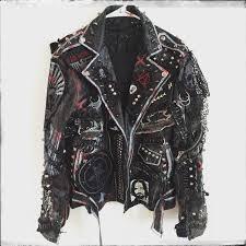 cheap biker jackets rocker jacket from chad cherry clothing punk rock jacket heavy