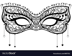 black lace mask carnival black lace mask royalty free vector image