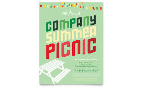 save the date flyer template company summer picnic flyer template