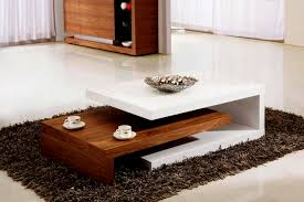 Living Room Wooden Center Table Furniture Home Glossy White Living Room Coffee Table Design