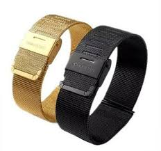 buckle clasp bracelet images Classic black gold stainless steel band for apple watch band wrist jpg