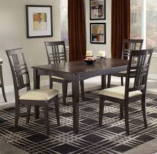 Vinyl Fabric For Kitchen Chairs by 5 Piece Dining Set Manmade Wood Mango Veneer And Metal Wonderful