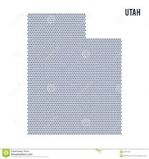 Utah On A Map by Vector Hexagon Map Of State Of Utah On A White Background Stock