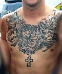 jesus designs and meaning for on chest image religious