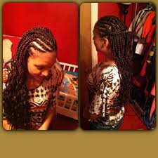 red cornrow braided hair half cornrows half box braids i did for a friend hair