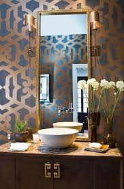 bathroom stencil ideas an entry from dollface powder room stenciling and bowl sink