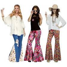 Hippie Halloween Costumes Adults Bell Bottoms 70s Disco 60s Hippie Womens Halloween