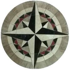marble floor medallion mosaic travertine and granite 48 compass