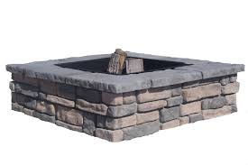 Stone Fire Pit Kit by Square Fire Pit Kits Natural Concrete Products