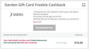 darden restaurants gift cards hurry free 10 gift card to darden restaurants lobster