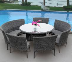 Wicker Patio Dining Table Outdoor Dining Table Wicker Table Design Useful And To