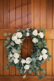 wedding arches at hobby lobby eucalyptus and white roses wreath loosk crafty