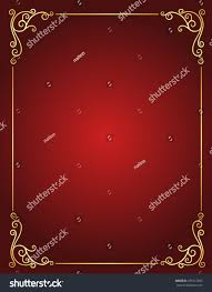Red Invitation Cards Elegant Gold Red Maroon Color Blank Stock Vector 255312982
