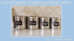 lorrie u0027s story chalkboard vinyl kitchen labels with the cricut