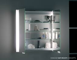 double door mirrored bathroom cabinet summit designer illuminated bathroom cabinet doors open from