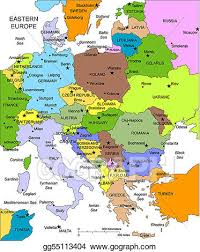 a map of europe with countries vector eastern europe with editable countries names