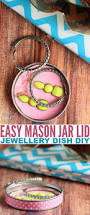 easy mason jar lid jewelry dish diy frugal mom eh