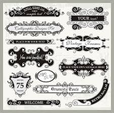 vector set of ornamental frames and sign designs in vintage style