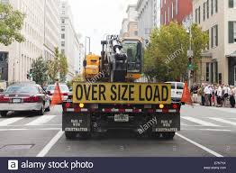 oversize load sign on back of truck stock photo royalty free