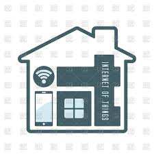 internet of things modern technology in house vector clipart