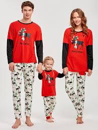 pajamas kid xs sleeve elk print matching family
