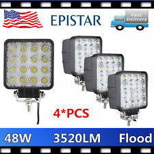 ecco led offroad lights ecco ew2401 square led work l flood beam spot light ebay
