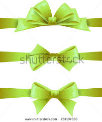 green gift cards bow stock vector 114602824