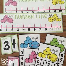 number lines for addition and subtraction frog spot