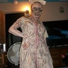 Silent Hill Nurse Halloween Costume Bloody Nurse Costume Nurse Costume Decorating Cut