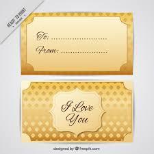 golden card vector free