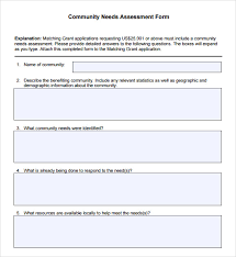 template of questions sle needs assessment community needs assessment template basic