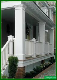exterior beauteous image of front porch decoration using white