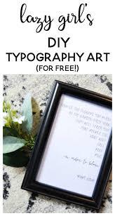 lazy u0027s diy typography art