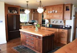 butcher block kitchen islands solution for narrow intended island