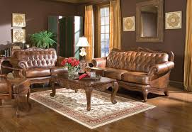 home decorators collection gordon blue leather sofa in brown