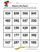free place value worksheet color by place value classroom ideas
