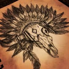 28 bull skull tattoos