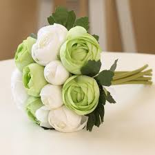 bridal flower white green bridal flower garden style for boho dress wedding
