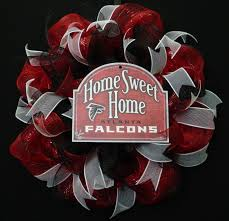 falcons wreath for your door falcons living pinterest