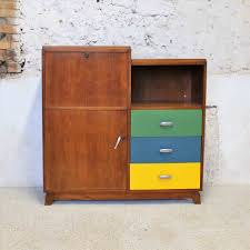 armoire bureau secretaire contemporaine coloris blanc noa best armoire bureau