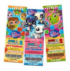 littlest pet shop birthday party invitations digital u print