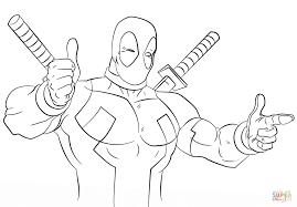 free printable cartoon coloring pages cartoon deadpool coloring page free printable coloring pages