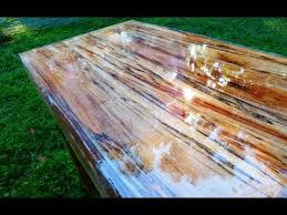 high gloss table from tree limb repurposing reclaiming