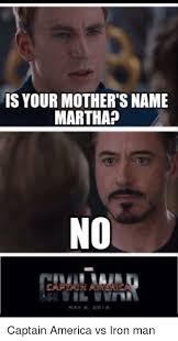 Martha Meme - is your mother s name martha captain america vs iron man america