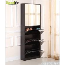 floor length mirror cabinet 5 layers shoe storage cabinet with full length mirror gls17017