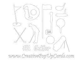 free golf cutting templates for father u0027s day creative pop up cards